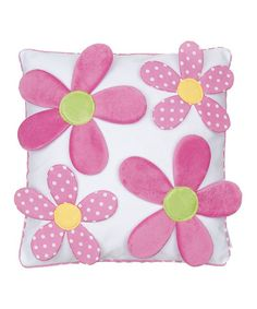 Look what I found on #zulily! Pink & White Julia Floral Throw Pillow by Levtex Home #zulilyfinds