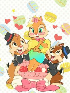 Chip & Dale with Clarice