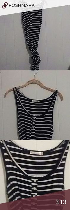 Black and white striped maxi dress Worn once. Cute for Summer. Long maxi dress. Send me your offers. Dresses Maxi
