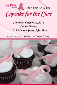 "Host a ""Cupcake for the Cure"" Breast Cancer Awareness event #breastcancer #events"