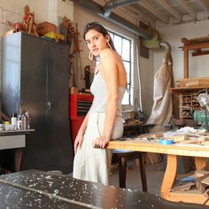 """Sophie Monet brings new meaning to the term """"family business."""" With  woodworking skills and tools passed down from her artist father and  business acumen from her boss lady sister all under one roof in Venice,  California this young jewelry designer is raring to go. By combining  sustainable woods and rare stones, Sophie achieves design that is both  contemporary and naturalistic. Today Lisa Says Gah catches up with Sophie  in her studio for a peek into the creative chaos. Enjoy!  Hi…"""
