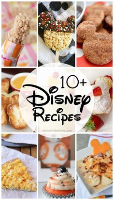 10+ great Disney inspired recipes!