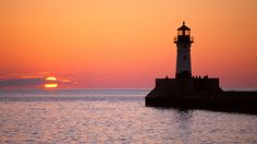 Sunrise, Canal Park in Duluth by Christopher Franklin on Capture Minnesota // A crowd gathers for the sunrise view in historic Canal Park
