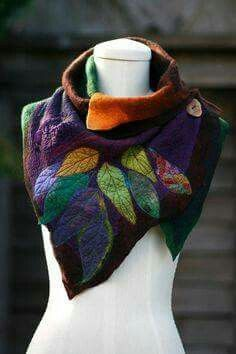 LOVE THE COLORS AND LEAF-SHAPED COWL -