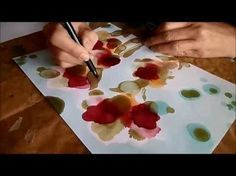 Alcohol inks, stencils and Yupo - YouTube