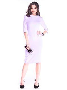 Shop Midi Dresses - Cotton-blend Elegant Pockets Half Sleeve Work Dress online. Discover unique designers fashion at StyleWe.com.