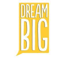 Typography Art Print, Printable Poster, Download And Print JPEG Image - Dream Big