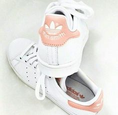 stan smith blanche et rose pale