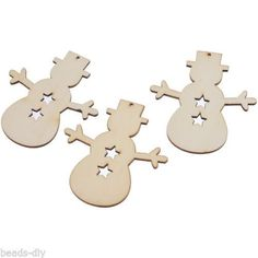 12PCs Wooden Christmas Ornaments Snowman X-mas Tree Hanging Decoration Party