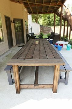Below are the Outdoor Patio Table Design Ideas On A Budget. This article about Outdoor Patio Table Design Ideas On A Budget was posted under the Furniture category by our team at August 2019 at pm. Garden Table, Patio Table, Wood Table, Terrace Grill, Farmhouse Furniture, Outdoor Furniture, Rustic Outdoor, Outdoor Decor, Pergola Attached To House