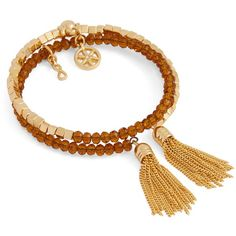 Vera Bradley Mark New Beginnings Bracelet in Gold Tone with Amber ($38) ❤ liked on Polyvore featuring jewelry, bracelets, gold tone with amber, beading jewelry, beaded jewelry, flower jewelry, bead jewellery and charm bangles