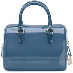 Furla 'Candy' bag ($188) ❤ liked on Polyvore featuring bags, handbags, blue, blue purse, furla handbags, furla purses, blue bag and pvc bag