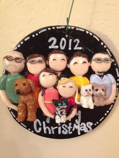 Family Personalized Christmas Ornament. $57.00, via Etsy.