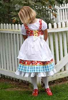 fairytale frocks and lollipops :: dawn hansen, olabelhe, heidi's dirndl, skrit, dress, girl, toddler, special occasion, lace up, apron, petticoat, boutique, costume, special occasion, wedding, party, birthday, halloween, german, sewing, pattern, sewing p