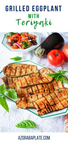 Grilled Eggplant with Teriyaki is a fun and flavorful summer dish. Grilled Eggplant with Teriyaki is perfect for grilling season! Easy Healthy Recipes, Vegetarian Recipes, Easy Meals, Vegetable Side Dishes, Vegetable Recipes, Side Dish Recipes, Dinner Recipes, Grilled Eggplant, Grilled Vegetables