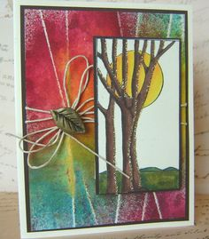 Stained Glass Tree and Cord Technique