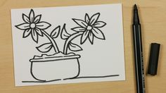 How to Draw a Plant Pot with Two Flowers - Easy Cartoon Doodle for Kids [114] - https://youtu.be/FwRXVQCRRcE - Subscribe: https://www.youtube.com/channel/UCzp_6nj33P39unKIBTNvXkQ?sub_confirmation=1