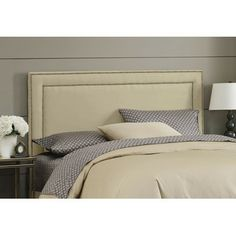 $262 -Wayfair   Skyline Furniture Nail Button Upholstered Headboard