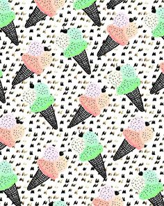 Ice Cream IV. #pattern #illustration