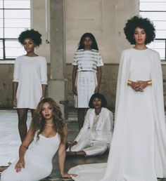 It was all about sisterhood and friendship at the nuptials of Solange and Alan Parker