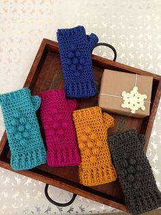 100% Wool , Crochet Fingerless Gloves, Crochet wrist warmer fingerless gloves, READY TO SHIP. $34.50, via Etsy.