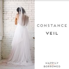 Sara Gabriel has the perfect veil  for each bride and this ombre one is perfect for brides who want just a touch of color  without the commitment of a colored gown!  https://www.happilyeverborrowed.com/collections/veils/products/constance-veil?variant=27913308553