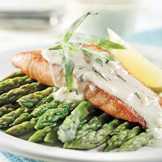 Filets de saumon, sauce à l'estragon - Les recettes de Caty
