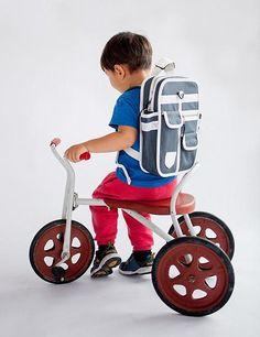 Mini Backpack Green - Goodordering | kids bag | children's backpack | mini me bag | retro school bag