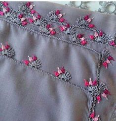 34 Most Fabulous Needle Lace Writing Edge Models of the Season - 29 Stylish Needle Lace Models With Neighboring Jealousy Pink Floral Show - Top Diy, Mode Collage, Kleidung Design, Mode Online Shop, Diy Shorts, Embroidery Letters, Needle Lace, Cute Pink, Stylish Men