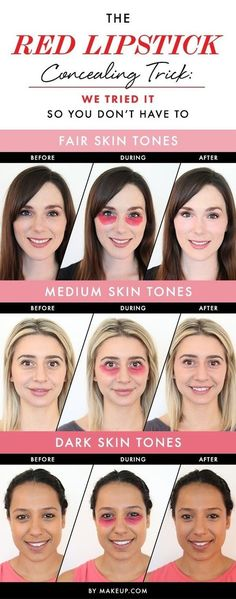 The Red LipStick CONCEALING TRICK - #redlipstick #concealer #eyemakeup #makeup #coverage