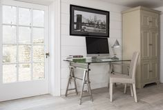 It is really difficult to find a petite writing desk in any furniture store. The Manhattan from Neptune is just that and much more. Manhattan Glass, Office Furniture, Home Furniture, Home Office, Office Desk, Glass Top Desk, Writing Desk, Corner Desk, House Design