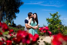 San Diego engagement photography at Balboa Park Rose Garden.