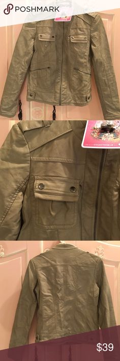 ❤️NWT Bomber Jacket from Nordstrom Brand NWT washed sand colored bomber jacket from Nordstrom. Collection B is the brand Collection B Jackets & Coats