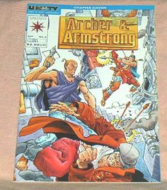 ARCHER & ARMSTRONG, #2, September, 1992, Valiant Comics,UNITY Crossover w/Turok, Jim Shooter/Barry Windsor-Smith,  Fn.+/Vf.. by brotoys1 on Etsy