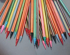 Painted knitting needles