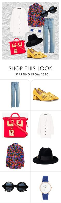 """""""Wrap some colour"""" by xxelectre on Polyvore featuring Vetements, Gucci, Sophie Hulme, Proenza Schouler, Balmain and Chanel"""