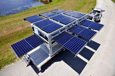 Contêiner se transforma em estação solar móvel