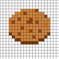 Minecraft Cookie Perler Bead Pattern | Bead Sprites | Food Fuse Bead Patterns