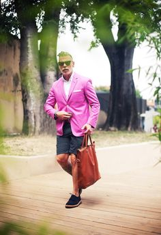 Nick Wooster- only wooster can rock a bright pink blazer like that