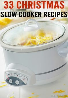 These 33 Christmas Slow Cooker Recipes. just because I want more slow cooker recipes. not so much the xmas part Crock Pot Food, Crock Pot Desserts, Crockpot Dishes, Crock Pot Slow Cooker, Crockpot Meals, Freezer Meals, Crock Pots, Dessert Recipes, Potluck Slow Cooker Recipes