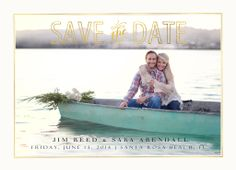 Save the Date Card ~ Engagement Session ~ Lake Guntersville ~ Boat ~ water ~ couples ~ flowers ~ peaceful ~ Jamey Reed Photography ~ Guntersville Alabama ~ Portrait and Commercial Photographer ~ Wedding