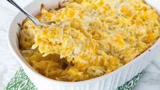 This simplified recipe for party potatoes is an easy and tasty way to feed a crowd. I actually made this recipe but i added in extra cheese shredded on top to your liking and about a half a cup of chopped green onion. It tates absolutely phenomenal.