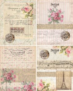 DigiTAL DoWnLOAds ShaBBY ChIc GiFt TAgs FLoRaL by bitmap on Etsy, $3.50