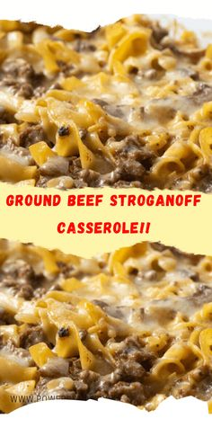 Beef Dishes, Pasta Dishes, Food Dishes, Easy Casserole Recipes, Casserole Dishes, Meat Recipes, Cooking Recipes, Recipes Dinner, Gratin