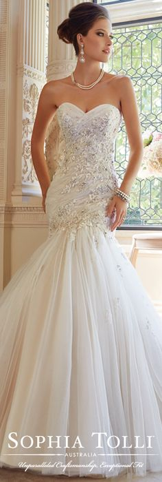 The Sophia Tolli Wedding Dress Collection - Style No. Y21448 Tilda www.sophiatolli.com #weddingdresses #weddinggowns