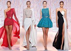Abiti da cerimonia 2015 collezione Zuhair Murad, Abiti Capodanno 2015, Abiti eleganti 2015, Look Capodanno 2015 One Shoulder, Shoulder Dress, Zuhair Murad, Formal Dresses, Google, Fashion, Elegant, Dresses For Formal, Moda