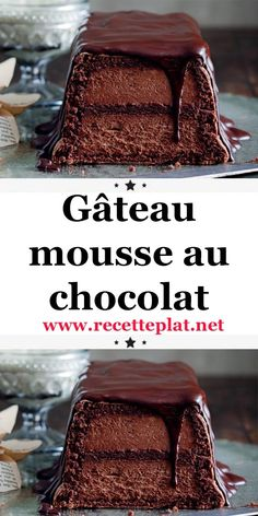 foodporn Et si on mangeait notre mousse au chocola - foodporn Turtle Cheesecake Recipes, Chocolate Mousse Cake, French Desserts, Mini Cheesecakes, French Pastries, Holiday Cakes, Mini Foods, Vegan Baking, Mini Cakes