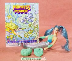 Mermista, the magical MERMAID, from the She-ra Princess of Power 1980s toyline Mermista in good used condition. She has tight joints and can