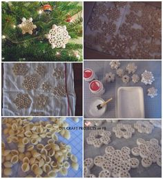 Diy Projects: How To Make Macaroni Snowflakes