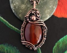 Wire wrapped pendant Amethyst pendant by LacyLoveWireWrap